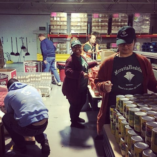 Moravia Health community food drive and collection