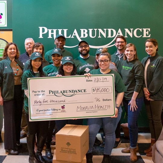 Moravia Health philabundance donation