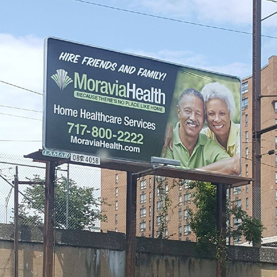 Moravia Health billboard advertisement